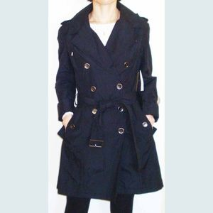 cole haan trench coat with hood